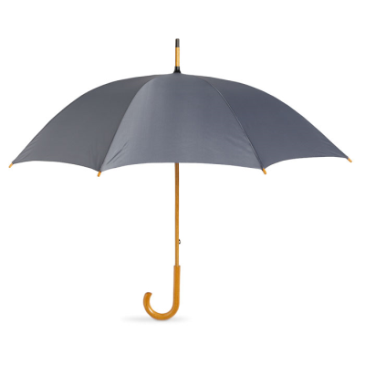 Picture of UMBRELLA with Wood Grip in Grey