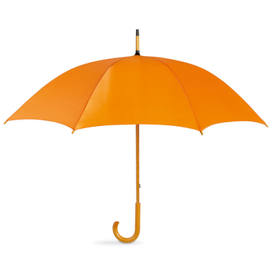 Picture of UMBRELLA with Wood Grip in Orange