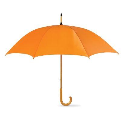 Picture of UMBRELLA with Wood Grip in Orange