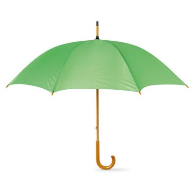 Picture of UMBRELLA with Wood Grip in Lime Green