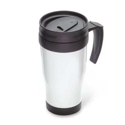 Picture of PLASTIC ISOLATED TRAVEL MUG in White