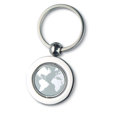 Picture of GLOBE METAL KEYRING