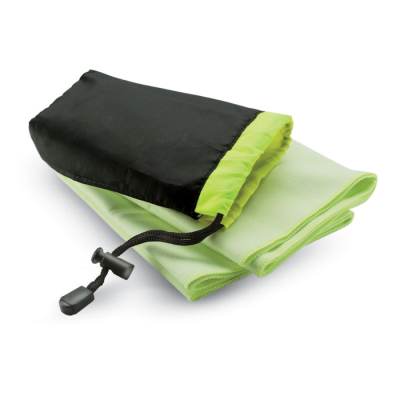Picture of SPORTS TOWEL in Nylon Pouch with Adjustable Closing in Green