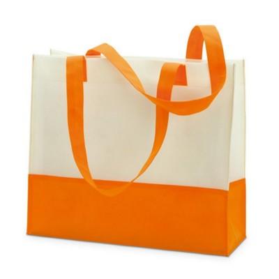 Picture of NON WOVEN SHOPPER TOTE OR BEACH BAG in Orange