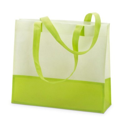 Picture of NON WOVEN SHOPPER TOTE OR BEACH BAG in Lime Green