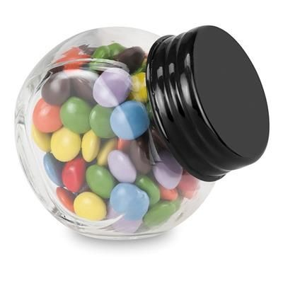 Picture of CHOCOLATE in Glass Holder in Black