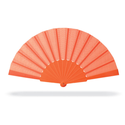 Picture of CONCERTINA HAND FAN in Orange