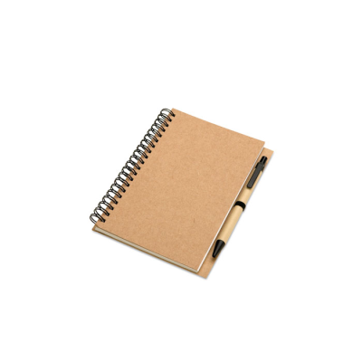 Picture of RECYCLED NOTE BOOK AND BALL PEN