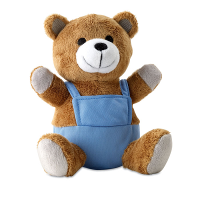 Picture of NICO PLUSH SOFT TOY BEAR in Blue