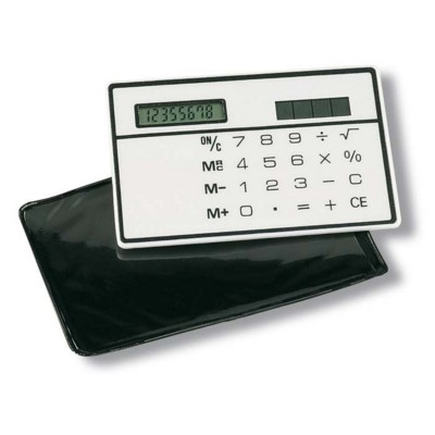 Picture of SOLAR SLIM CREDIT CARD 8 DIGIT CALCULATOR in White