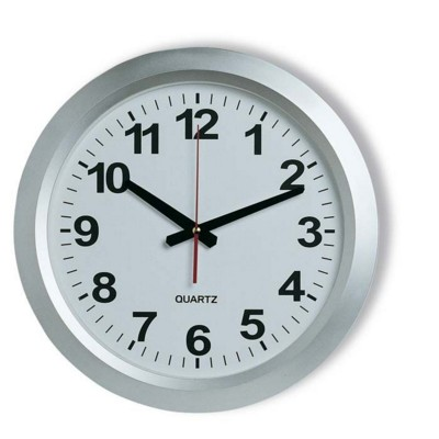 Picture of CHAMP RAILWAY STATION CLOCK in Silver