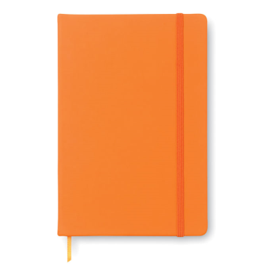 Picture of A5 CUBE BLOCK NOTE with Lined Paper in Orange