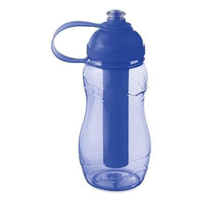 Picture of DRINK BOTTLE 400ML with Freezing Tube in Clear Transparent Blue
