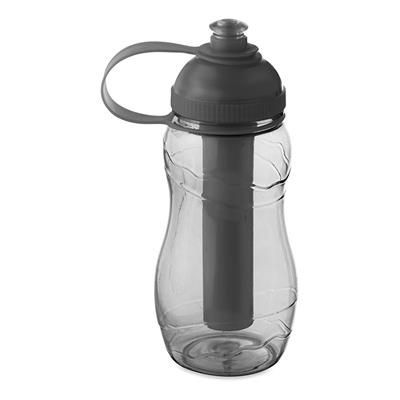 Picture of DRINK BOTTLE 400ML with Freezing Tube in Clear Transparent Grey