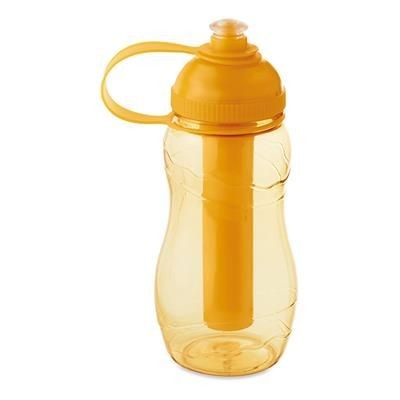 Picture of DRINK BOTTLE 400ML with Freezing Tube in Clear Transparent Orange