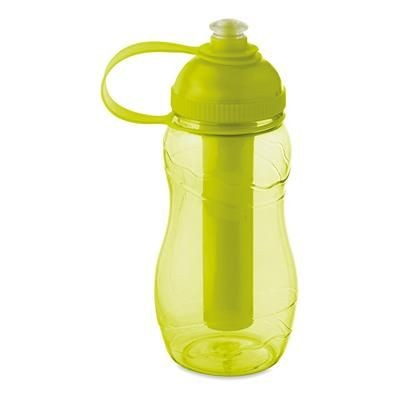Picture of DRINK BOTTLE 400ML with Freezing Tube in Tranparent Lime