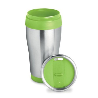Picture of STAINLESS STEEL METAL MUG in Lime