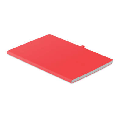 Picture of A5 SOFT PU COVER NOTE BOOK in Red