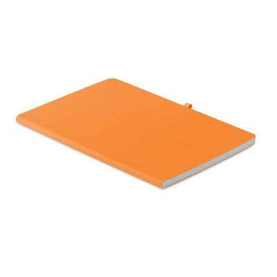 Picture of A5 SOFT PU COVER NOTE BOOK in Orange