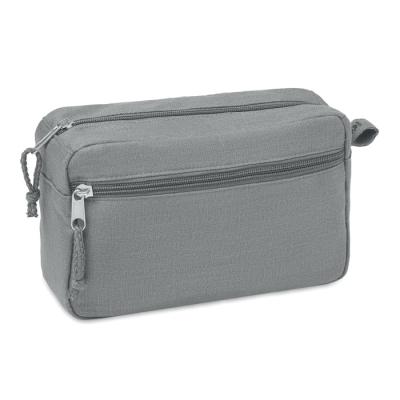 Picture of HEMP WASH BAG HEMP 200 GR & M² in Grey