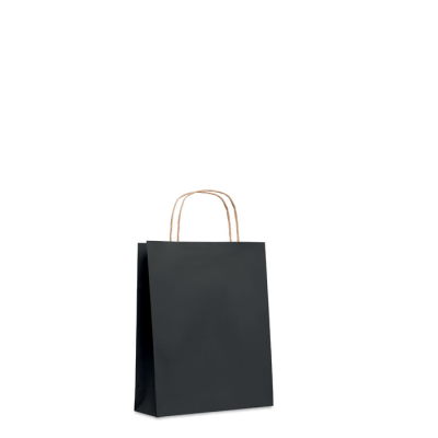 Picture of SMALL GIFT PAPER BAG 90 GR & M² in Black