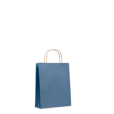 Picture of SMALL GIFT PAPER BAG 90 GR & M² in Blue
