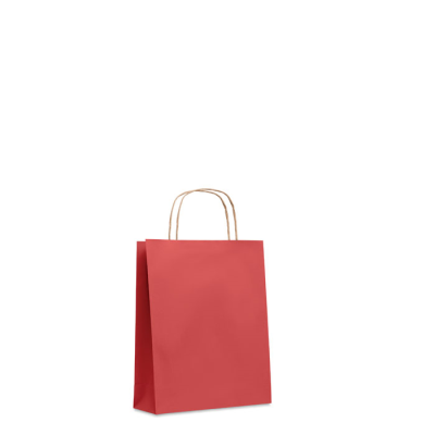 Picture of SMALL GIFT PAPER BAG 90 GR & M² in Red
