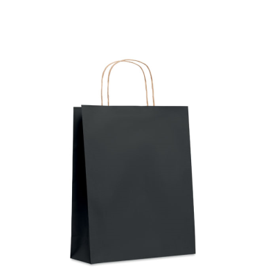 Picture of MEDIUM GIFT PAPER BAG 90 GR & M² in Black