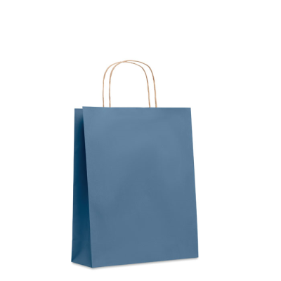 Picture of MEDIUM GIFT PAPER BAG 90 GR & M² in Blue