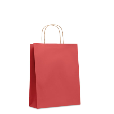 Picture of MEDIUM GIFT PAPER BAG 90 GR & M² in Red