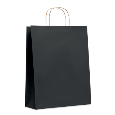 Picture of LARGE GIFT PAPER BAG 90 GR & M² in Black