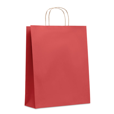 Picture of LARGE GIFT PAPER BAG 90 GR & M² in Red
