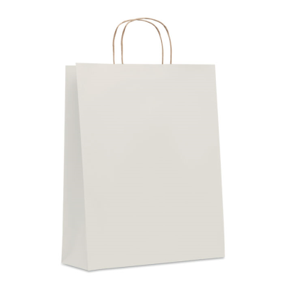 Picture of LARGE GIFT PAPER BAG 90 GR & M² in White