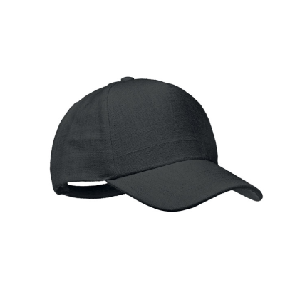 Picture of HEMP BASEBALL CAP 370 GR & M² in Black