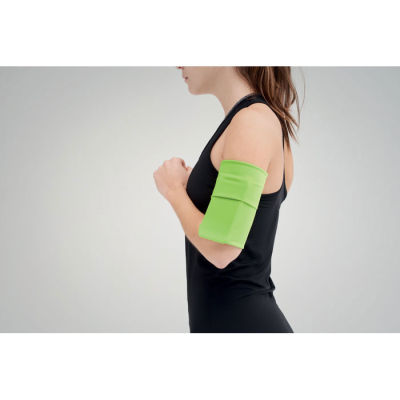 Picture of USEFUL POLYESTER ARM POUCH in Lime