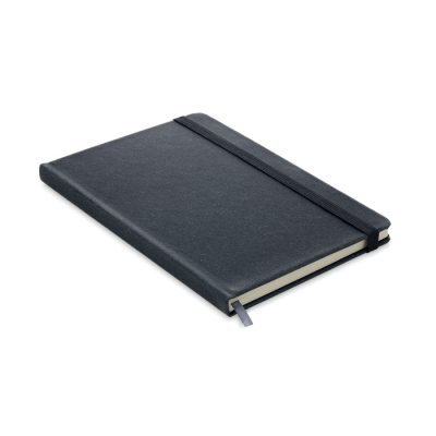 Picture of RECYCLED PU A5 LINED NOTE BOOK in Black