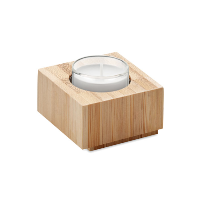 Picture of BAMBOO TEALIGHT HOLDER