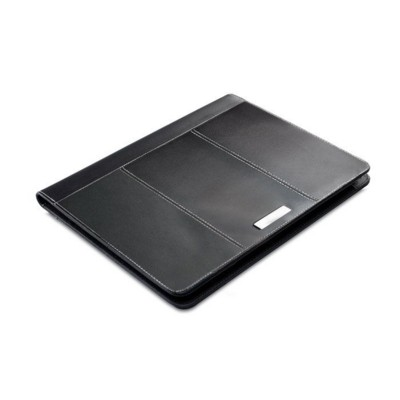 Picture of A4 LEATHER CONFERENCE FOLDER in Black