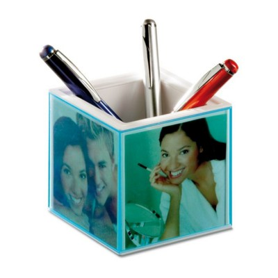 Picture of CUBIC BALL PEN HOLDER in Translucent Blue