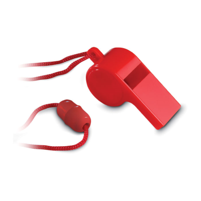 Picture of COLOURFUL TRADITIONAL SPORTS WHISTLE in Red