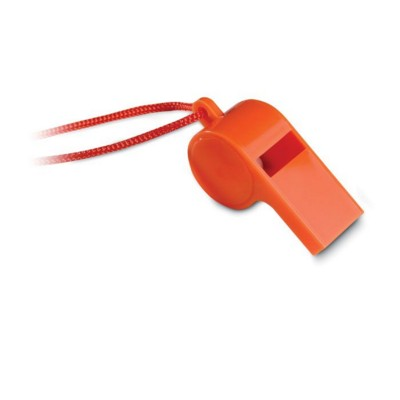 Picture of COLOURFUL TRADITIONAL SPORTS WHISTLE in Orange