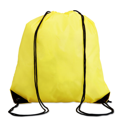 Picture of DRAWSTRING BACKPACK RUCKSACK with Cord in Yellow