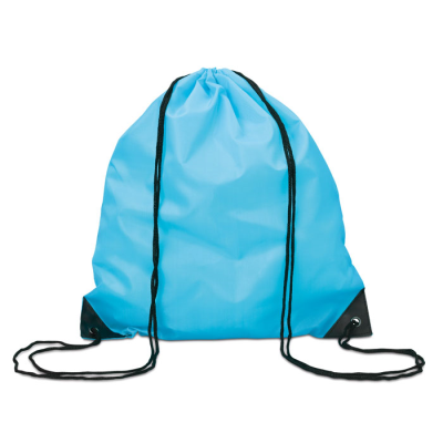 Picture of DRAWSTRING BACKPACK RUCKSACK with Cord in Turquoise