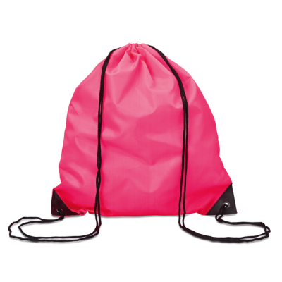 Picture of DRAWSTRING BACKPACK RUCKSACK with Cord in Fuchsia Pink