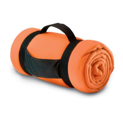 Picture of COMFORTABLE FLEECE PICNIC BLANKET in Orange