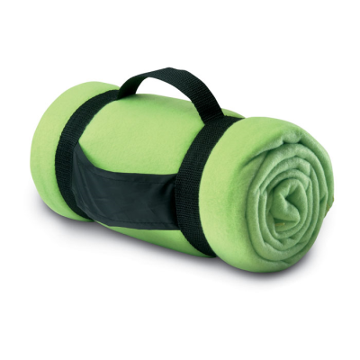 Picture of COMFORTABLE FLEECE PICNIC BLANKET in Lime Green