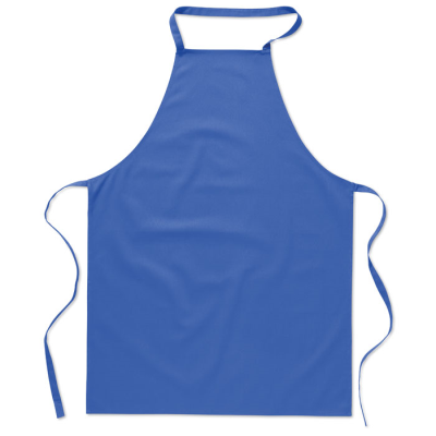 Picture of COTTON KITCHEN APRON in Royal Blue