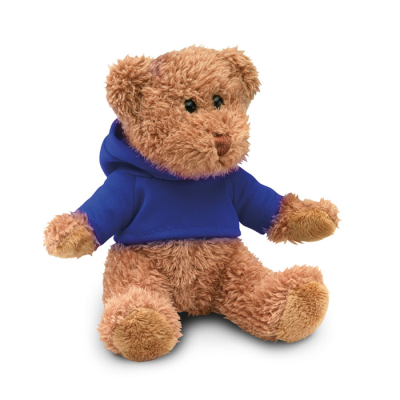 Picture of TEDDY BEAR PLUSH SOFT TOY with Hooded Hoody Sweater in Blue