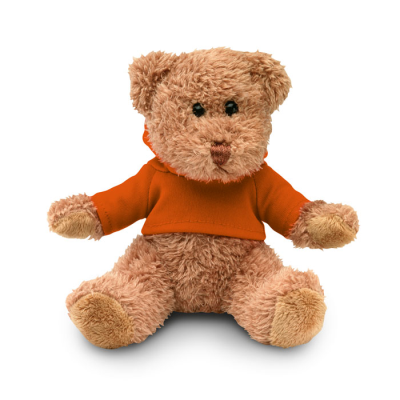 Picture of TEDDY BEAR PLUS with Hooded Hoody in Orange