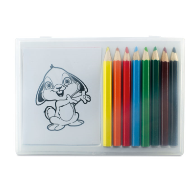 Picture of COLOURING SET in Clear Transparent Box